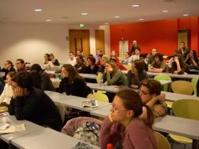 Estudiantes en la sesión de preguntas con Maiana Bidegaian