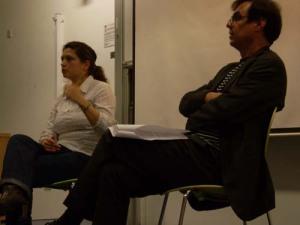 Maiana Bidegain, directora de Secretos de Lucha, y Rafael Peñas Cruz, organizador de Spanish in Motion.