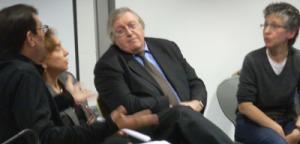 Otro momento de la charla entre Rafael Peñas, Lala Isla, Paul Preston y Helen Graham